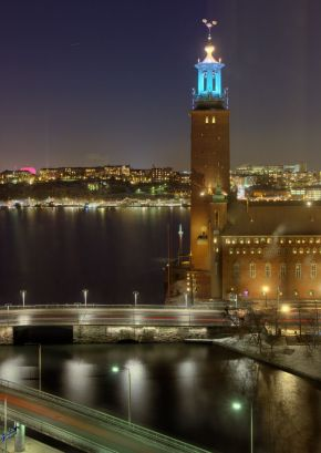 Stockholm City Hall After Dark
