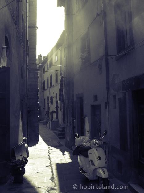 Bakgate i Cortona