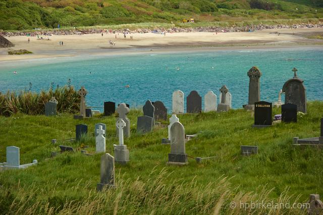 Derrynane Beach sett fra Abbey Island