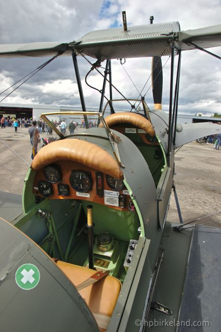DeHavillan Tiger Moth cockpit