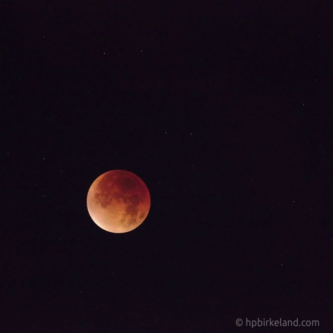 Blood moon 2015. Canon EF 70-300mm @ 300mm, f/5.6, 1s, ISO 3200