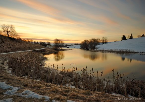 Sunrise by the river, Enebakk, Norway