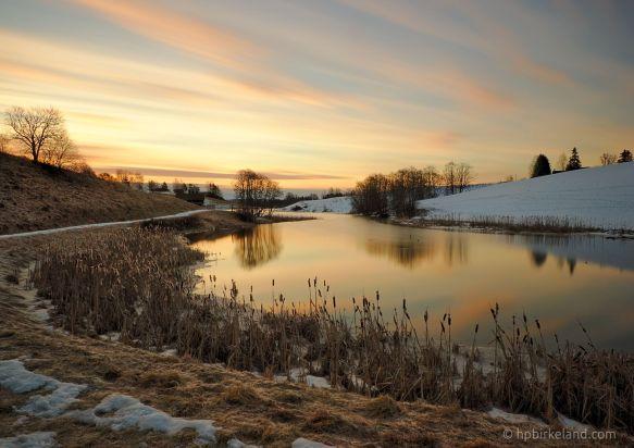Sunrise by the river, Enebakk, Norway